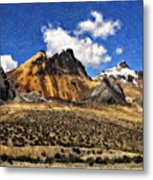 The High Andes Painted Version Metal Print