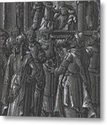 The High Priest Before Pilate [verso] Metal Print