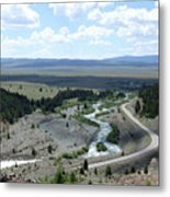 The Highway And The River Metal Print