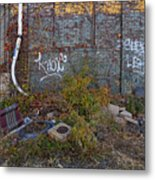 The Hipsters Patio Wiiliamsburg Brooklyn Metal Print