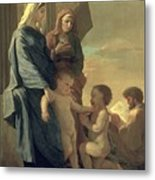 The Holy Family Metal Print by Nicolas Poussin