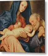 The Holy Family With A Basket  Metal Print