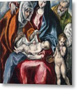 The Holy Family With Saint Anne And The Infant John The Baptist Metal Print