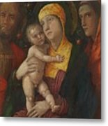 The Holy Family With Saint Mary Magdalen 1500 Metal Print