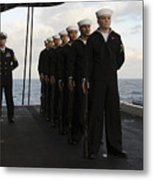 The Honor Guard Stands At Parade Rest Metal Print by Stocktrek Images