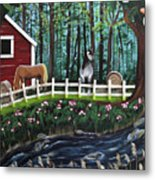 The Horse Farm Metal Print
