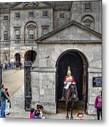 The Horse Guard At Whitehall Metal Print