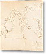 The Horse Of Selene From The Elgin Marbles [recto] Metal Print