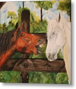 The Horse Whisperers Metal Print