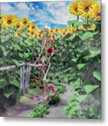 The Horticulturist Metal Print