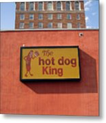 The Hot Dog King Metal Print