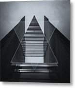 The Hotel Experimental Futuristic Architecture Photo Art In Modern Black And White Metal Print