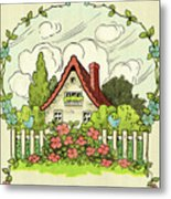 The House At The End Of Storybook Lane Metal Print
