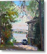 The House By The River Metal Print