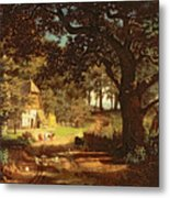 The House In The Woods Metal Print by Albert Bierstadt