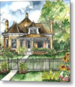 The House On Spring Lane Metal Print