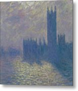 The Houses Of Parliament Stormy Sky Metal Print