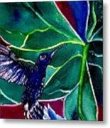 The Hummingbird And The Trillium Metal Print
