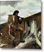 The Hunter And His Dogs Metal Print by Winslow Homer