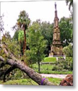 The Hurricane And The Confederate Monuments Metal Print