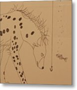 The Hyena Meets The Fish Metal Print