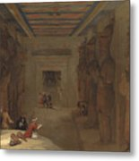The Hypostyle Hall Of The Great Temple At Abu Simbel Egypt Metal Print