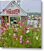 The Ice Cream Store On Bearskin Neck Metal Print