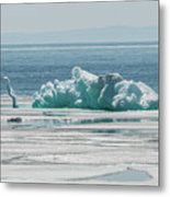 The Ice Elephant Of Silver Islet Metal Print