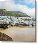 The Ice Wall Iceland Metal Print