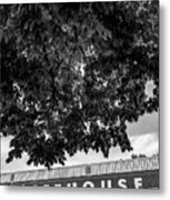 The Icehouse - Black And White - Bentonville Market District Metal Print