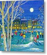 The Iceskaters Metal Print