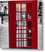 The Iconic London Phonebox Metal Print
