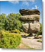 The Idol Rock In Perspective Metal Print