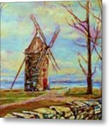 The Ile Perrot Windmill Moulin Ile Perrot Quebec Metal Print