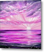 The Incredible Journey - Purple Sunset Metal Print