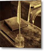 The Inkwell Metal Print