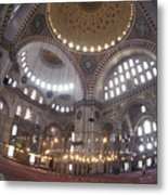 The Interior Of The Suleymaniye Mosque Metal Print by Richard Nowitz