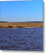 The Intracoastal Waterway In The Georgia Low Country In Winter Metal Print