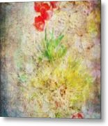 The Introverted Tulip Metal Print