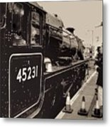 The Jacobite At Mallaig Station Platform 4 Metal Print