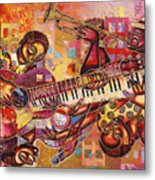 The Jazz Dimension  Metal Print by Larry Poncho Brown