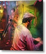 The Jazz Vipers In New Orleans 01 Metal Print