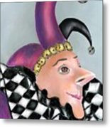 The Jester Metal Print by Arline Wagner
