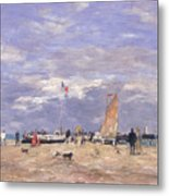 The Jetty At Deauville Metal Print