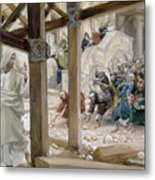 The Jews Took Up Stones To Cast At Him Metal Print by Tissot