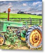 The John Deere Tractor Metal Print