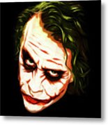 The Joker - Pop Art Metal Print