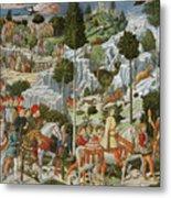 The Journey Of The Magi To Bethlehem Metal Print