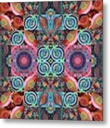 The Joy Of Design Mandala Series Puzzle 7 Arrangement 1 Metal Print