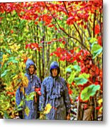 The Joys Of Autumn Camping Metal Print